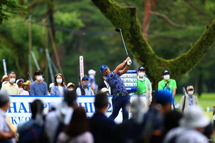 hole1 par4 419yards tee shot 2021年 日本プロゴルフ選手権大会 3日目 宮里優作