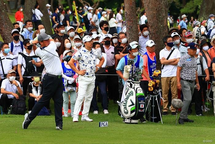 山本豪は石川遼、片山晋呉とムービングデーのプレーをともにした 2021年 日本プロゴルフ選手権大会  3日目 山本豪 石川遼 片山晋呉
