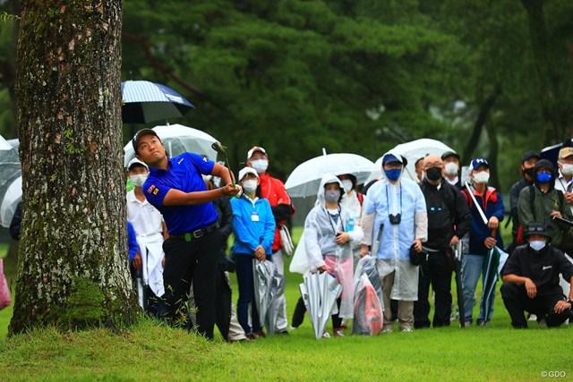 2021年 日本プロゴルフ選手権大会 最終日 稲森佑貴 hole18 par4 462yards approach shot