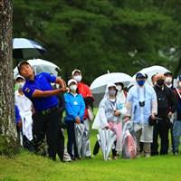hole18 par4 462yards approach shot 2021年 日本プロゴルフ選手権大会 最終日 稲森佑貴