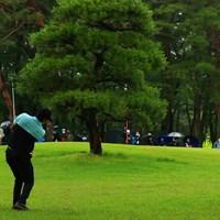 hole13 par5 547yards approach shot 2021年 日本プロゴルフ選手権大会 最終日 キム・ソンヒョン