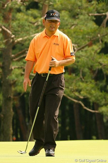 2010年 ダイヤモンドカップゴルフ 初日 中嶋常幸 「やっぱり試合は楽しいよ」という中嶋常幸。復帰戦初日は3オーバー100位タイでも満足気
