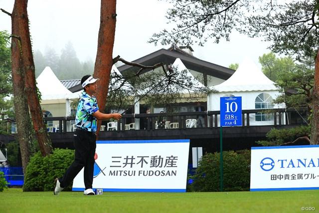 2021年 日本プロゴルフ選手権大会 最終日 池田勇太 hole10 par5 518yards tee shot