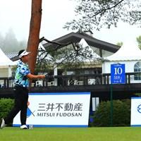 hole10 par5 518yards tee shot 2021年 日本プロゴルフ選手権大会 最終日 池田勇太