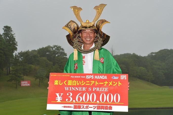 井戸木鴻樹が9年ぶりの国内シニアツアー優勝(提供:日本プロゴルフ協会) 2021年 ISPS HANDA 楽しく面白いシニアトーナメント 2日目 井戸木鴻樹