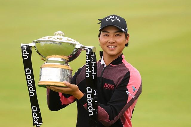2021年 アバディーンスコットランドオープン  最終日 ミンウ・リー ミンウ・リーがツアー2勝目を挙げた(Andrew Redington/Getty Images)