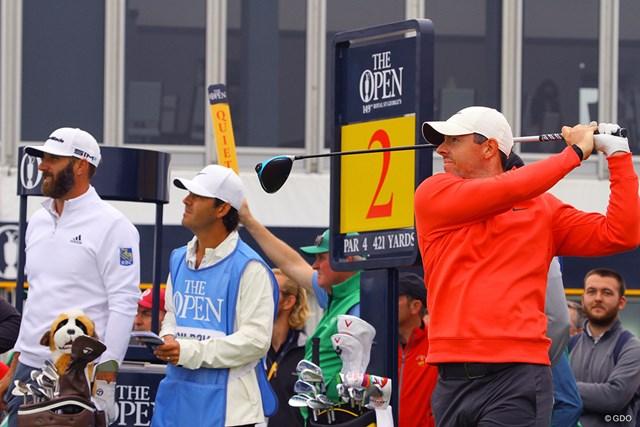 2021年 全英オープン 事前 ダスティン・ジョンソン ロリー・マキロイ 最終日最終組と言われても驚かない豪華な練習ラウンド