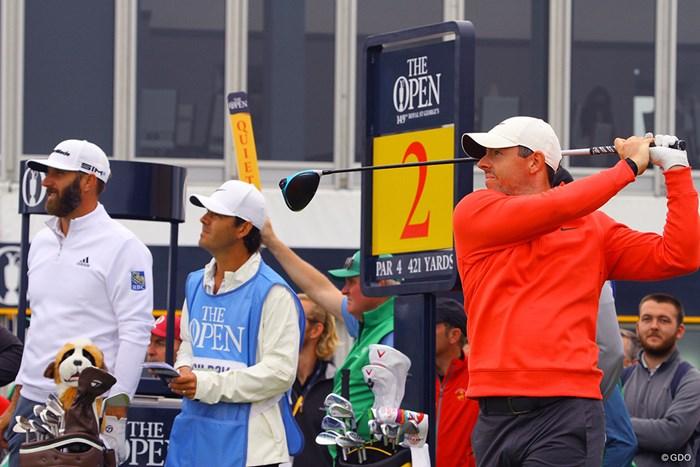 最終日最終組と言われても驚かない豪華な練習ラウンド 2021年 全英オープン 事前 ダスティン・ジョンソン ロリー・マキロイ