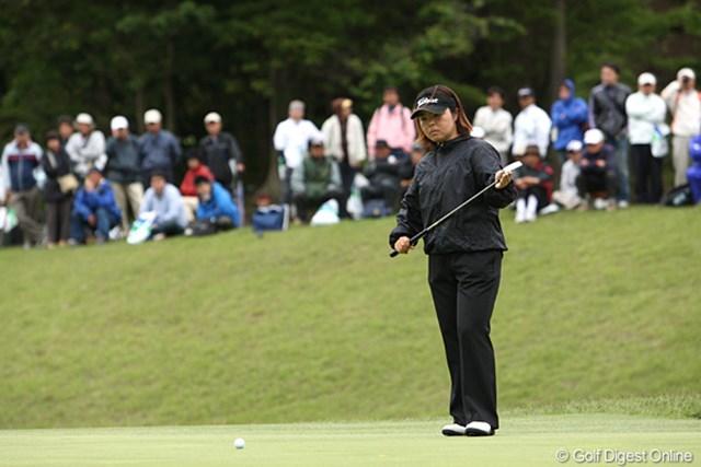 2010年 ヨネックスレディスゴルフトーナメント 初日 不動裕理 2週連続優勝ネライマス
