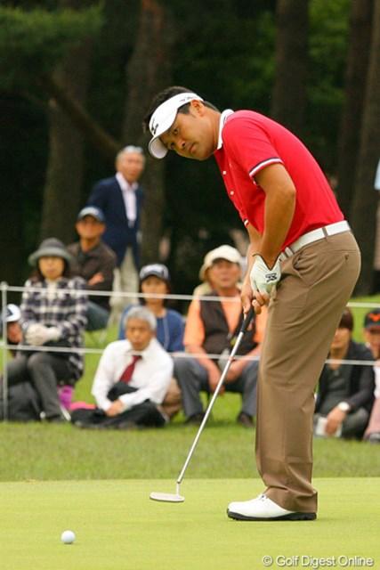 2010年 ダイヤモンドカップゴルフ 2日目 手嶋多一 粘り強いゴルフで2位タイと好位置をキープする手嶋多一