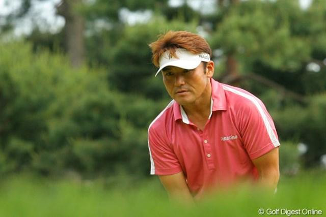 2010年 ダイヤモンドカップゴルフ 2日目 丸山茂樹 「まだ、あきらめないよ」そんな気迫が伝わってくる丸山茂樹の真剣な表情