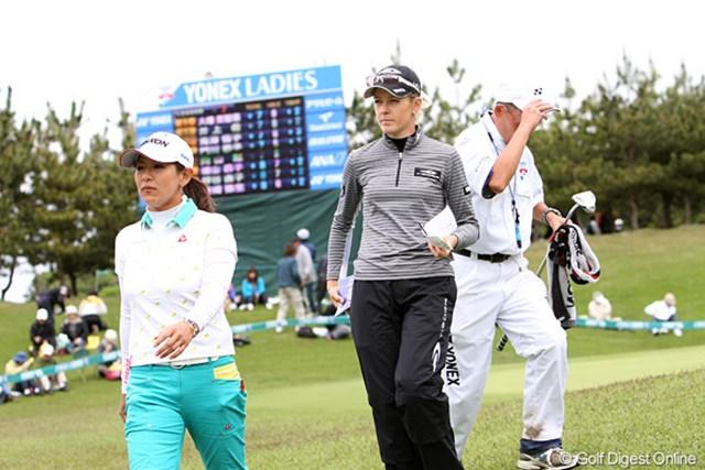 2010年 ヨネックスレディスゴルフトーナメント 2日目 ニッキー・キャンベル 今日66で回り5位タイに浮上したN.キャンベル