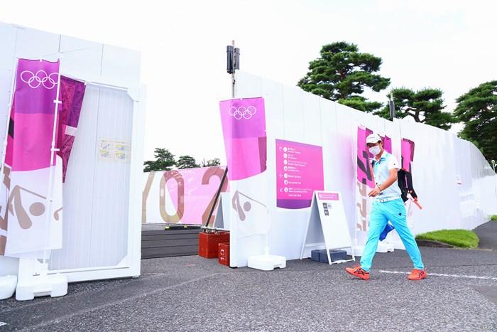 ここが選手の検温所&入口になります。 2021年 東京五輪 事前 星野陸也