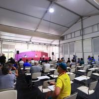 メジャーチャンピオンに海外のメディアも記者会見にチラホラ 2021年 東京五輪 事前 松山英樹