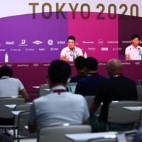 11-00から記者会見がスタート 2021年 東京五輪 事前 松山英樹