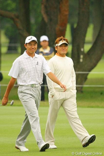 2010年 ダイヤモンドカップゴルフ 3日目 丸山茂樹 横尾要 日大の先輩後輩。先輩を慕う横尾は終始楽しそうにラウンドしていた