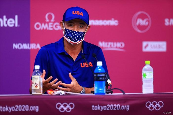 世界ランク3位のコリン・モリカワ。マスクは星条旗です 2021年 東京五輪 事前 コリン・モリカワ