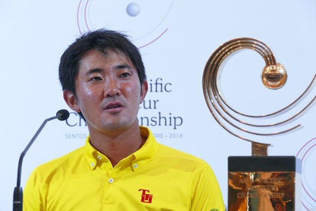 2018年 アジアパシフィックアマチュアゴルフ選手権 最終日 金谷拓実 2018年大会を制したのは金谷拓実