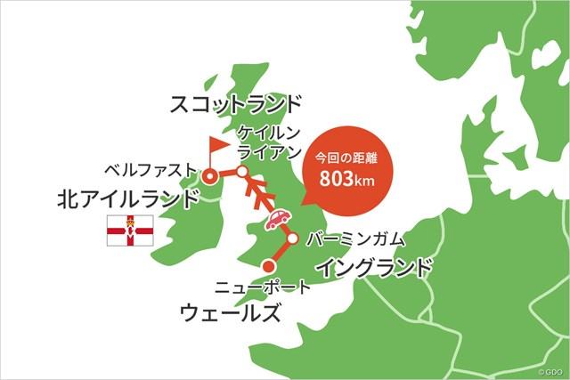 2021年 ISPS Handa ワールド招待 事前 川村昌弘マップ 海はフェリーで横断しました