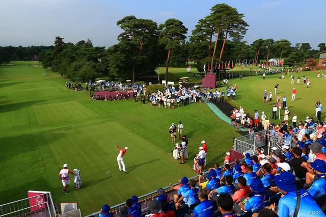 2021年 東京五輪 初日 星野陸也 星野陸也のティショットが五輪男子ゴルフの開幕を告げた