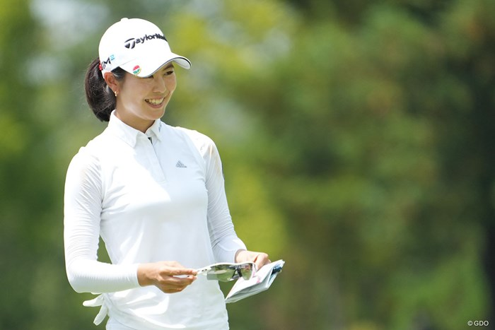 松森彩夏ら女子ゴルファーたちも五輪のテレビ観戦を楽しんでいる 2021年 楽天スーパーレディース 初日 松森彩夏