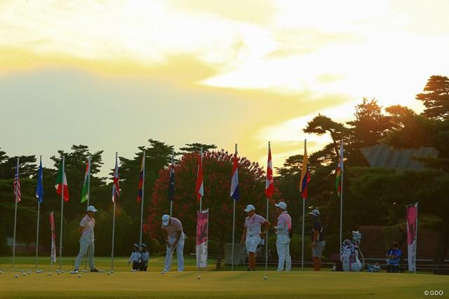 2021年 東京五輪 3日目 松山英樹 夕暮れまで練習は続いた