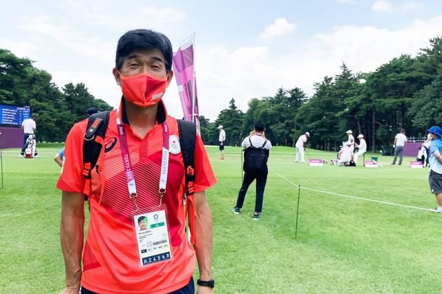 2021年 東京五輪 3日目 尾縣貢 ゴルフ会場を訪れた日本代表選手団の尾縣貢総監督