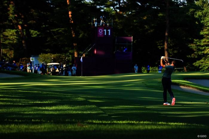 Play off hole11 par4 461yards second shot 2021年 東京五輪 最終日 ロリー・マキロイ