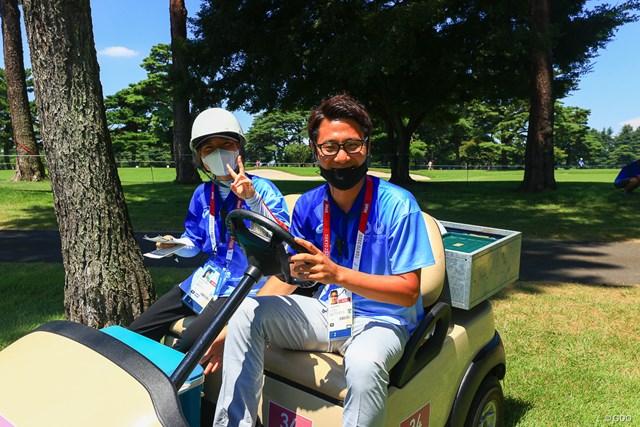 2021年 東京五輪 2日目 ボランティア いつも俺らの心配をしてくれて氷嚢やドリンクをくれる
