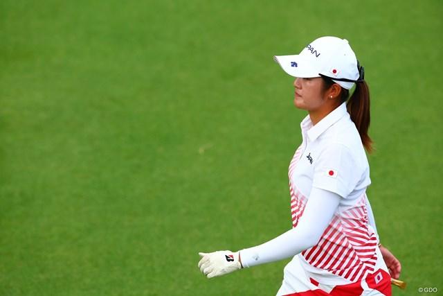 2021年 東京五輪 4日目 稲見萌寧 メダルへ稲見萌寧の最終18ホールが始まった