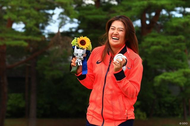 2021年 東京五輪 最終日 稲見萌寧 こちらも同じぐらいうれしいです!