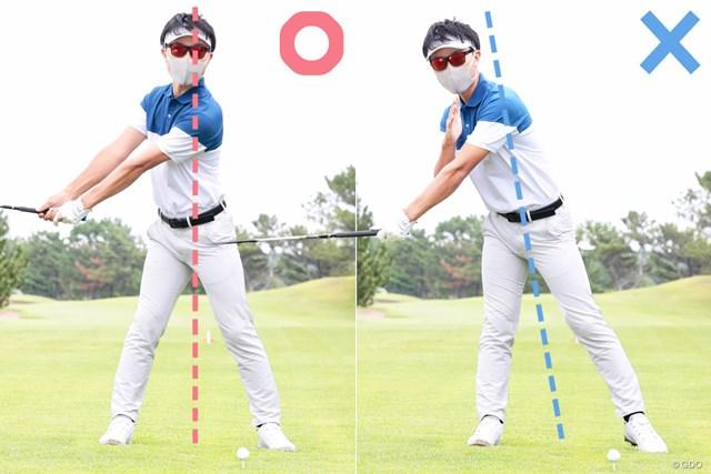 左腕は伸びているか? 見るだけで飛距離が伸びる60秒間 体重移動は意識せず体の軸は一定に保つ