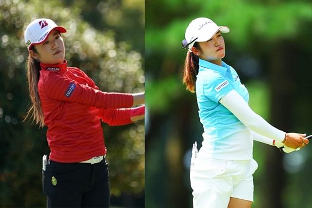2021年 稲見萌寧 左は2020年10月「スタンレーレディス」。右は21年「東京五輪」