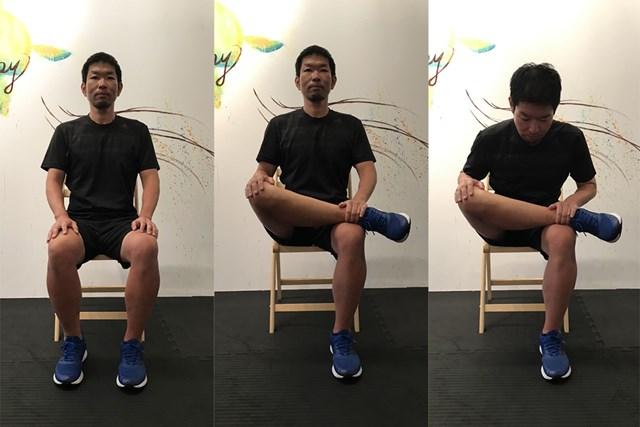 股関節ストレッチ1 臀部(でんぶ)を伸ばすストレッチ