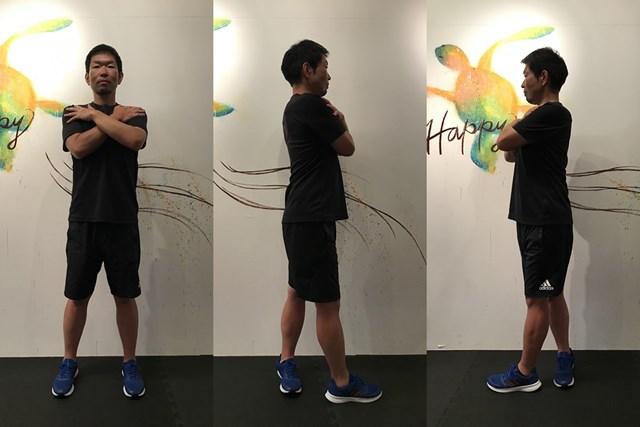 股関節ストレッチ2 真っ直ぐな姿勢をキープするのがポイントです