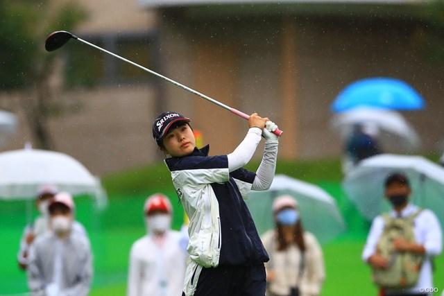 2021年 NEC軽井沢72ゴルフトーナメント 初日 尾関彩美悠 渋野さんの高校の後輩アマチュア選手、あみゆさんです
