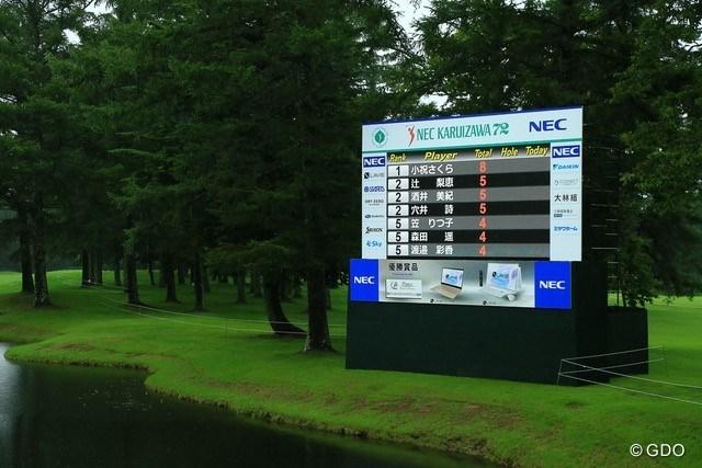 2021年 NEC軽井沢72ゴルフトーナメント 3日目 リーダーボード 最終ラウンドは9ホールの決戦に