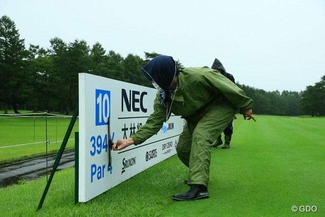 2021年 NEC軽井沢72ゴルフトーナメント 3日目 整備 最終ラウンドに向け整備が行われた