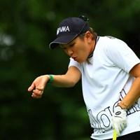 虫さんに優しくフーってしてました 2021年 NEC軽井沢72ゴルフトーナメント 最終日 成田美寿々