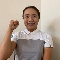 大会連覇を目指す永峰咲希(提供:JLPGA) 2021年 日本女子プロゴルフ選手権大会コニカミノルタ杯 事前 永峰咲希