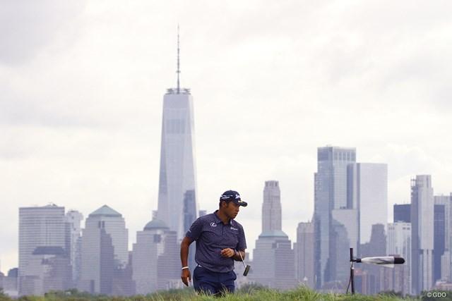 2021年 ザ・ノーザントラスト 初日 松山英樹 ニューヨークの摩天楼を望むコースで松山英樹が上々のスタート