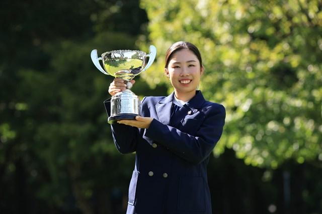 2021年 日本ジュニア選手権 最終日 越田泰羽 女子15-17歳の部を制したのは越田泰羽(提供:JGA)