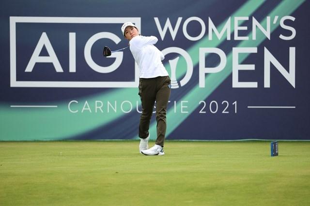 2021年 AIG女子オープン(全英女子) 2日目 渋野日向子 渋野日向子は前半に1つ伸ばした(Warren Little/R&A/R&A via Getty Images)