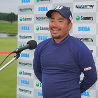 インタビューでやっと笑顔に。 2021年 長嶋茂雄招待セガサミーカップ 最終日 比嘉一貴