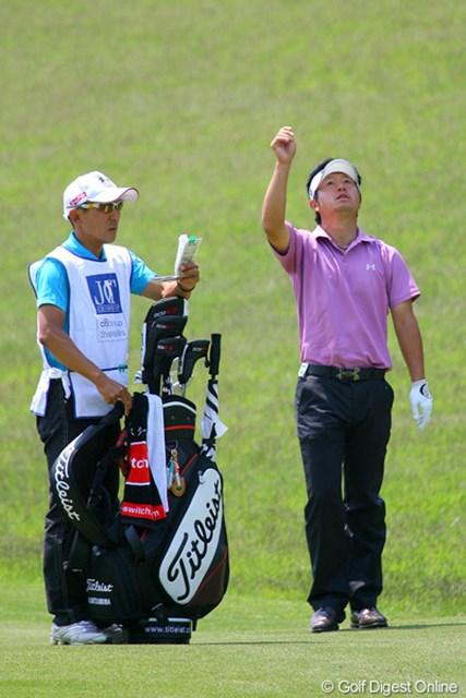 松村道央/「日本ツアー選手権シティ杯宍戸」2日目 出入りの激しいプレーで2ストローク落としたが、トップ10圏内にとどまっている松村道央