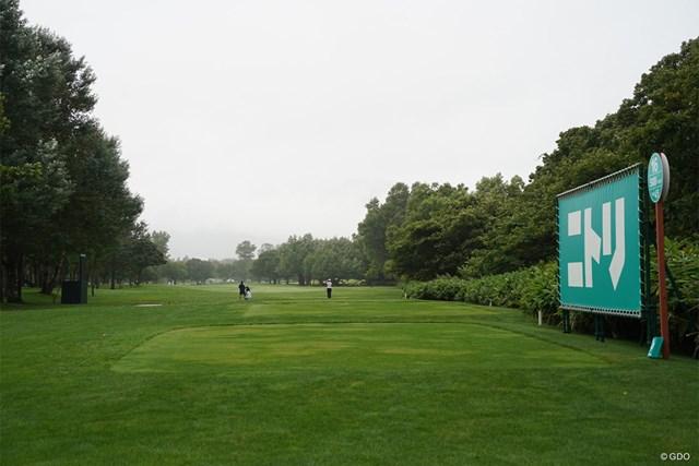 2021年 ニトリレディスゴルフトーナメント 事前 16番 パ-5になった時のコース風景