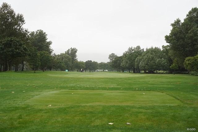 2021年 ニトリレディスゴルフトーナメント 事前 16番 パー4になった時のコース風景