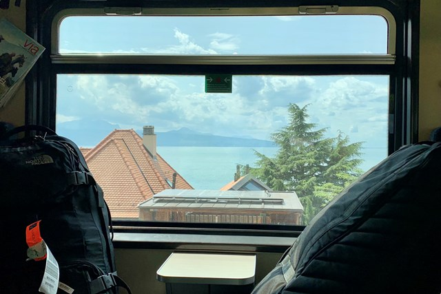 2021年 オメガ ヨーロピアンマスターズ 事前 スイスの車窓から スイスで乗った電車の車窓から
