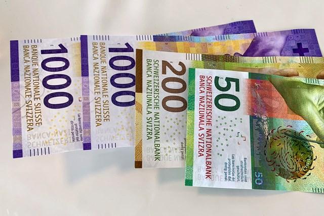 2021年 オメガ ヨーロピアンマスターズ 事前 プロアマでゲットした大金 プロアマで2500スイスフランを獲得しました。約30万円だけどお札がたった4枚