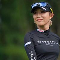 ノーボギープレーに「完璧」と笑顔を見せた金田久美子 2021年 ニトリレディスゴルフトーナメント 初日 金田久美子